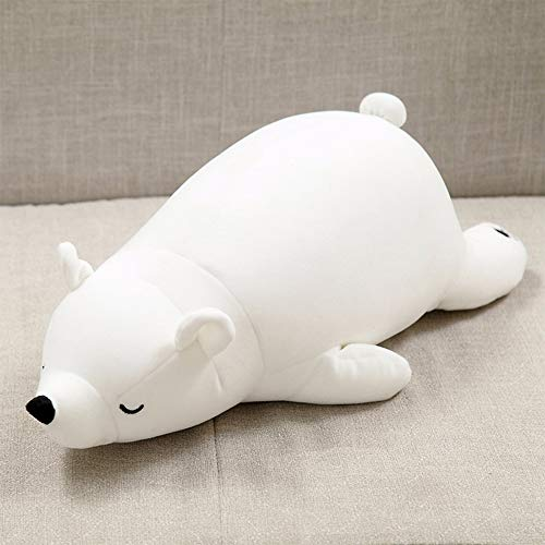 Polar Bear Plush Doll|Kawaii Stuffed Soft Animal Toy|Lovely Fat Polar Bear Pillow|Simulation Polar...