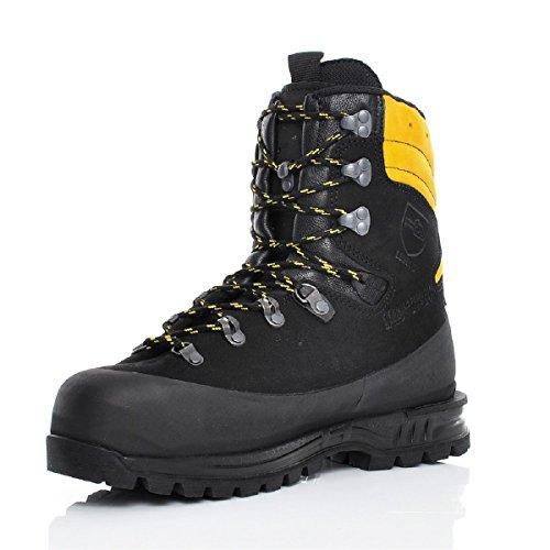 Haix Protector Alpin Hightech-Schuh für den Einsatz im steilen Gelände mit Schnittschutzklasse 3 und Krallenelement. 43