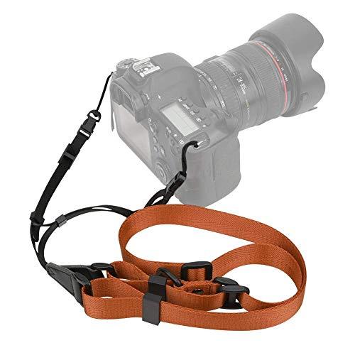 Kameragurt, Universal Lightweight Nylon Verstellbarer weicher Kamerahals Schultergurt, für Spiegelreflexkamera, spiegellose Kamera, Sofortbildkamera (schwarz)Kameragurt, Universal Lightweight Nylon