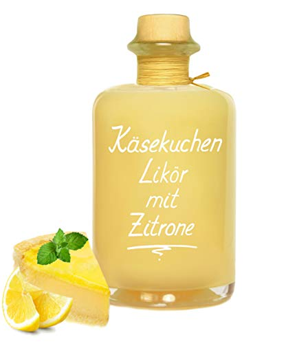 Käsekuchen Likör mit Zitrone 0,5L Saulecker! Lemon Cheesecake Liqueur 17% Vol. Käsekuchenlikör Cremelikör Geschenk