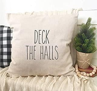 Athena Bacon Deck The Halls Rae Dunn Inspired Pillowcase Cover Christmas Song Carol Home Decor 18x18 Pillowcase case Farmhouse Magnolia Market Inspired