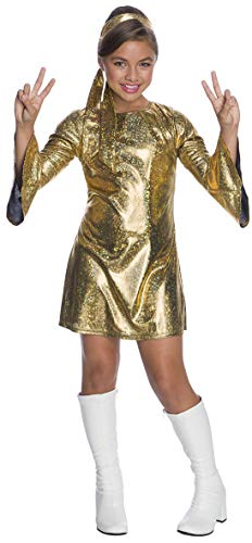 Charades Little Girl's Hologram Disco Diva Childrens Costume, as Shown, X-Small