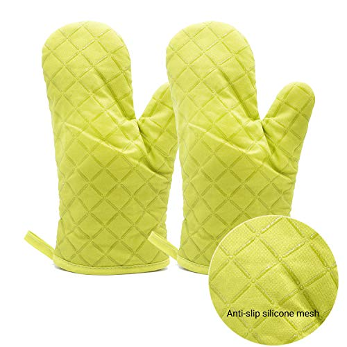 Oven Mitts 2pcs Pot Holders Heat Resistant up to 482F/250¡ãC NonSlip Silicone Mesh Mitts Food Grade Kitchen Mitten Cooking Gloves for Baking BBQ