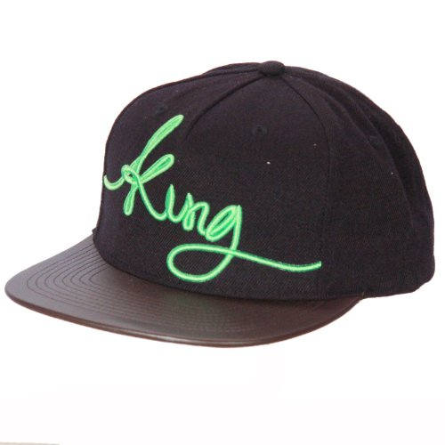 Roi Apparel pincée Panel Snapback Cap ~ Signature Noir