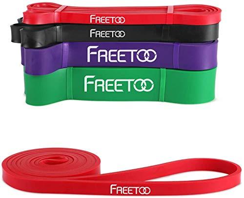 FREETOO Fitness Resistenza Band Fasce Elastiche, Perfette per Riabilitazione Dopo Un Infortunio, Yoga, Pilates, Crossfit, Rosso
