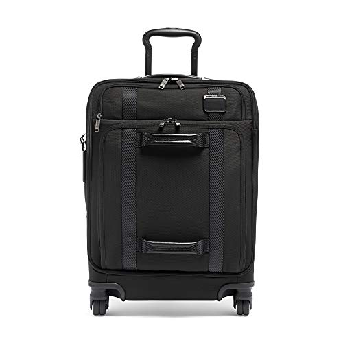 TUMI - Merge Continental Front Lid 4 Wheeled Carry-On Luggage - 22 Inch Rolling Suitcase for Men and Women - Black