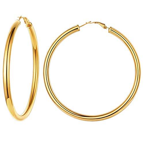 Pendientes 80MM aros oro grueso Mujer Cartilago Pendientes Aros dorados