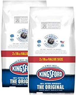 【正規輸入品・2020年新パッケージ】Kingsford キングスフォード オリジナルチャコール BBQ用炭 約8.16kgx2袋セット (18lb Original 2 Bags Set)