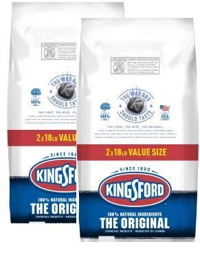 【正規輸入品】Kingsford キングスフォード オリジナルチャコール BBQ用炭 (Kingsford Original Charcoal) バーベキュー BBQ 炭 チャコール ブリケット (約8.16kg (18LB) x 2袋)