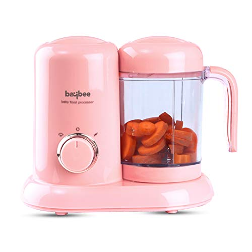 Baybee Smart Baby Food Processor with Steamer & Grinder, Multi-Purpose Baby Food Blender for Cooking Healthy Organic Food, Ideal for Baby, BPA Free (Pink)