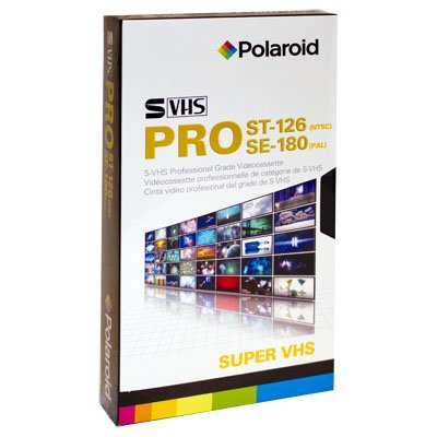 Lowest Prices! POLAROID S-VHS CASSETTE TAPE 126Min.