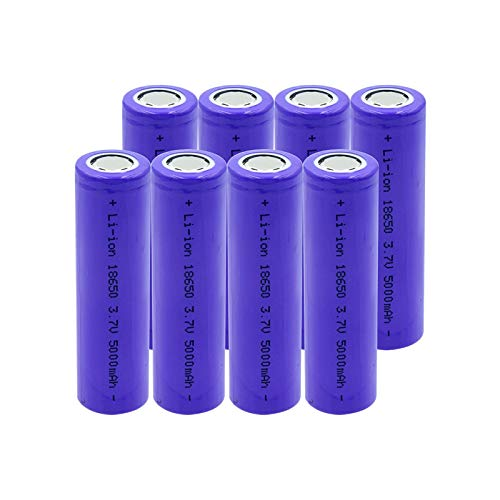 MGLQSB Batería Recargable De Iones De Litio 18650 5000mah 3.7v, Batería De Iones De Litio Recargable para Linterna Antorcha Aspictureshows