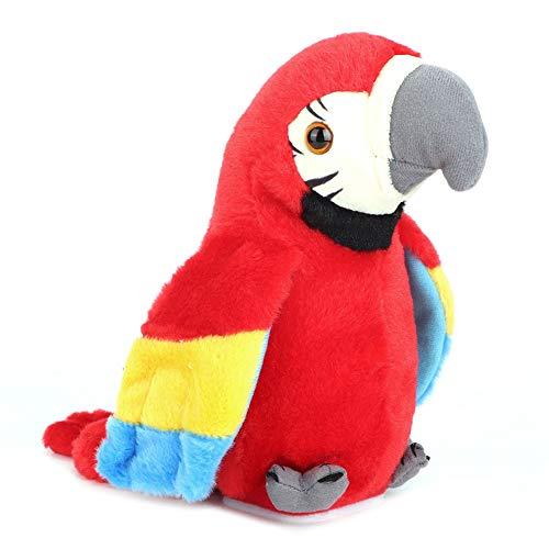 YOUTHINK Sprechender Papagei Spielze für Kinder, Kuscheltiere Spielze Plüsch Papagei Spielzeug - Wehende Flügel und Sprechende Rekordwiederholungen