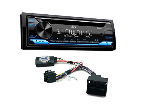Autoradio KD-T716BT geeignet für Citroen C2 | C3 | C4 | C5 | C8 | DS3 | C3 Picasso | C4 Picasso | Berlingo | Jumpy inkl. Lenkrad Fernbedienung Adapter
