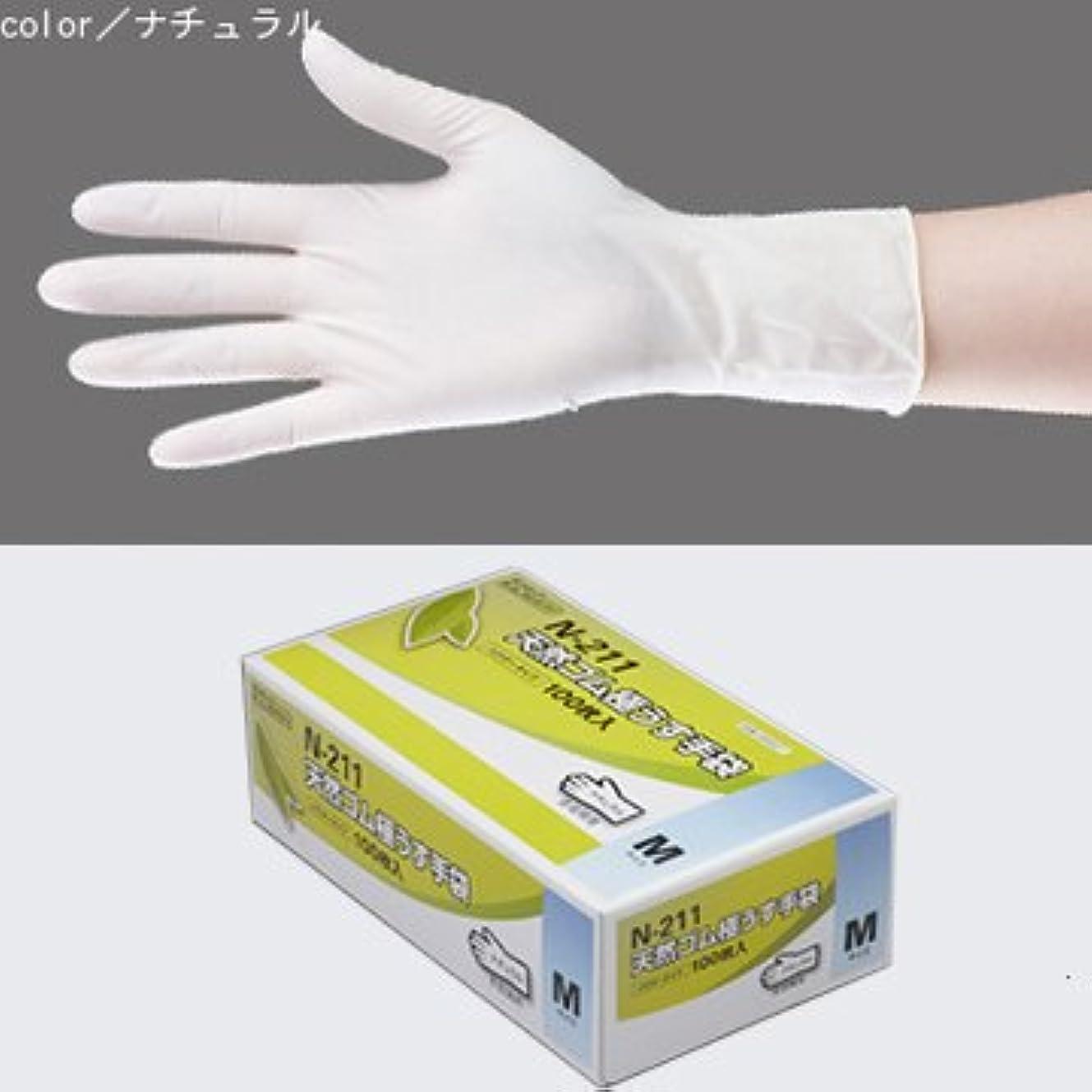 哀れなスケッチ特徴天然ゴム極うす手袋 100枚入 N-211 (M, ナチュラル)
