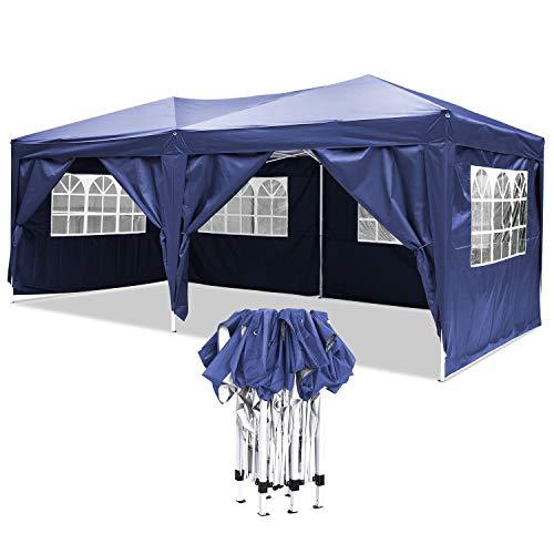 Bunao Carpa con Paredes 3x6 m | Plegable, Impermeable, con Protección Solar, Ideal para Fiestas en el Jardín | Gazebo, Cenador, Pabellón, Tienda Fiestas | Persona 10-12 (Typ14)