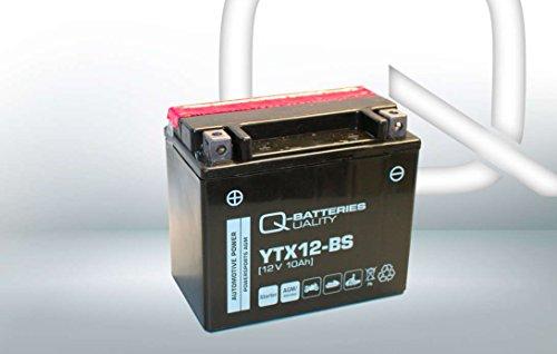 Q-Batteries Motorrad-Batterie YTX12-BS AGM 51012 12V 10Ah 180A