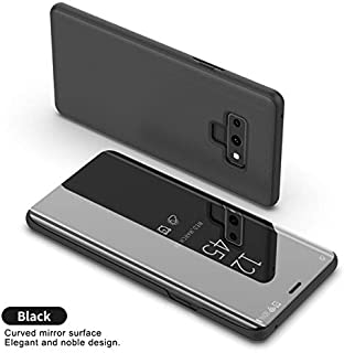 Fitted Cases - Smart Mirror Flip Phone Case for Samsung Galaxy S9 S8 S7 S6 Edge Plus Clear View Cover for Samsung Galaxy Note 9 8 5 4 3 Case - by Keu_20-1 PCs