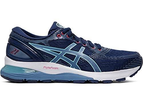 ASICS Women's Gel-Nimbus 21 Running Shoes, 9M, Blue Expanse/Grey Floss