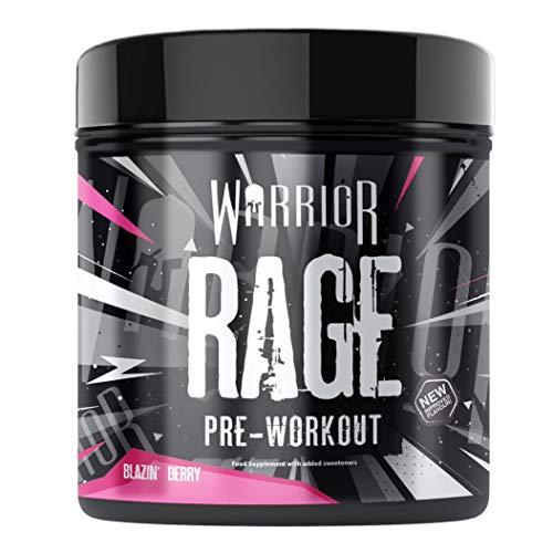 Warrior Supplements RAGE Pre Workout Powder – Blazin' 392g WARG04502, Blazin' Berry