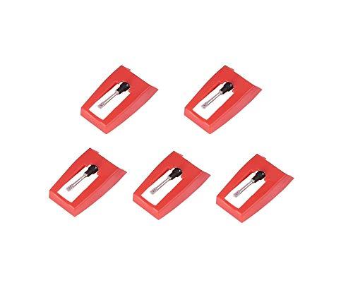 Stylineedle Juego de 5 agujas de punta de diamante para tocadiscos Crosley, Ion, Jensen, Bush y Teac