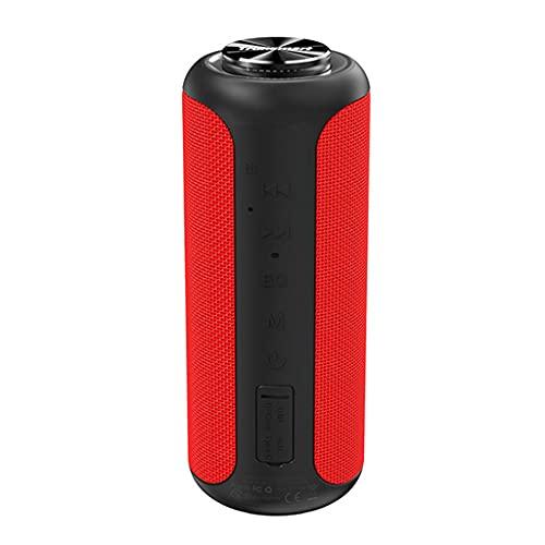RYSF Haut-Parleur Bluetooth 5.0 40W Haut-Parleur Portable Colonne IPX6 avec NFC, Carte TF, clé USB (Color : Red)