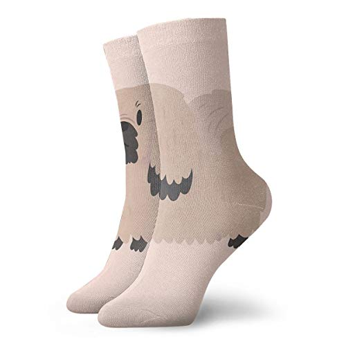 Two Cup Of Coffee With LOVE Fashion Dress Socks Short Socks Leisure Travel 11.8 Inch