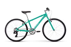 Low stand over aluminum frame for easy on and off; fits ages 8 to 12 years old or 53 to 56 inches tall 24 inch wheels keep the bike sized just right for bigger kids Shimano Reva shifters roll through 7 gears with an easy twist of the wrist Alloy V br...