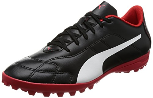 Puma Herren Classico C TT Fußballschuhe, Schwarz Black-White-High Risk Red, 40 EU