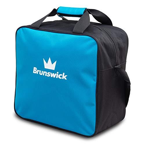 Brunswick TZone Single Tote 1-Ball-Bowling-Tasche für einen Bowlingball (Hellblau)