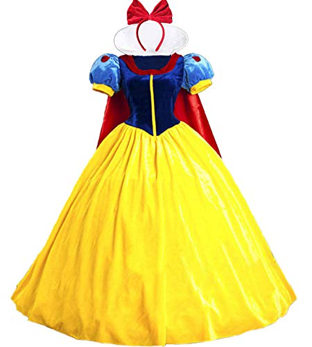 V-will Snow White Princess Costumes for Women Halloween Fancy Dress...
