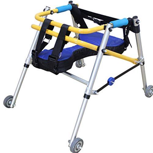 Rollator Space Saver, Rehabilitación Auxiliar Auxiliar Ayuda Ayuda Ajustable Ajustable, Plegable 4 Ruedas Rollator Walker con Asiento TINGG (Size : B) 🔥