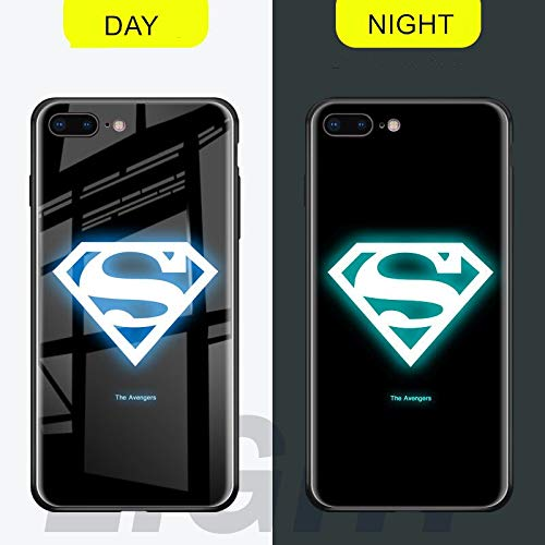 PlatinumCase Luminous Fashion Luxury Tempered Glass Hybrid Case for iPhone X 7 8 6 6s Plus XS XR XS MAX (style1) (iPhone X XS)