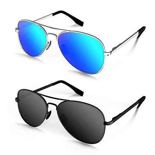 Black | Ice-Blue Lens AODUOKE Sports Polarized KIDS Sunglasses For Boys Girls Children Youth Sunglasses With Strap