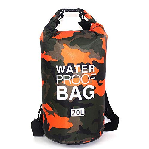 Soymen 4 Size IPX6 Waterproof Dry Bag 500D PVC Camo Outdoor Diving Foldable Beach Swimming Bag Rafting River Ocean Backpack Annual Outdoor Best Partner