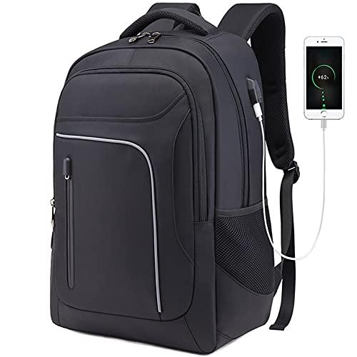 SUNDAYUEBH 2021 Neue Rucksack Herren Business Outdoor Computer Rucksack Student Schultasche Reisetasche(schwarz)