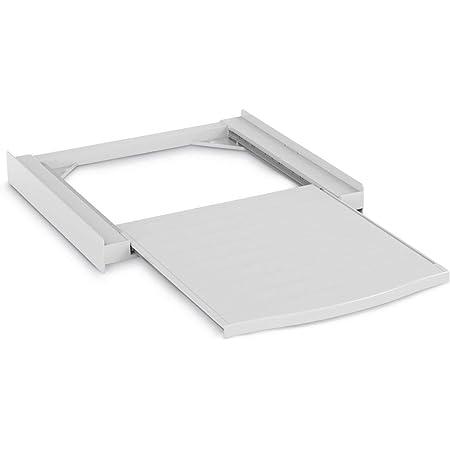 Xavax | Kit d'empilage « Smart » pour machine à laver/sèche-linge, plateau extractible, plastique | Blanc