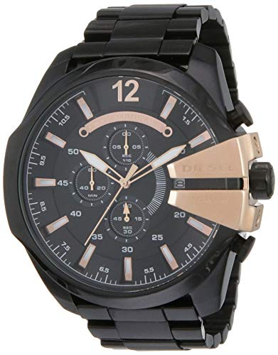 Diesel Chi Chronograph Black Over sized dial Men's Watch-DZ4309