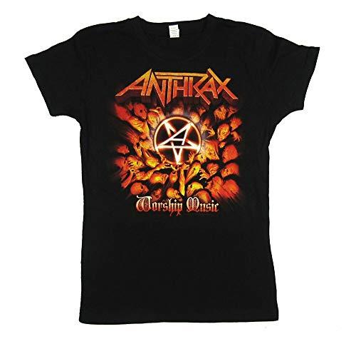 Anthrax Worship Music Juniors Black T Shirt New Merch Album Art