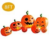 AmazingValueDeal Halloween Inflatable Pumpkin Decorations - Outdoor Yard Large Scary Halloween Party Decor - Blow up Jack-O-Lanterns...