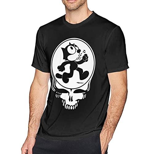 T-Shirts Felix The cat SYF Thank The deceased 3D Print Classic Herren Kurzarm T-Shirt Erwachsene Pullover