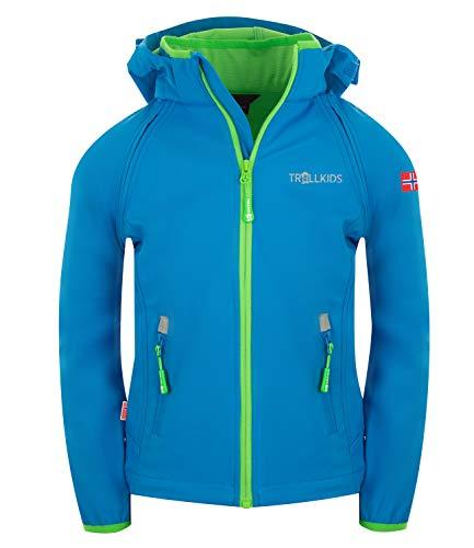 Trollkids Rondane Softshell Jacke Zip Off, Mittelblau, Größe 152
