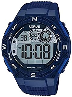 R2319LX9 - Lorus Men's, Digital, 100m Water Resistant, Calender, Chronograph, Dark Blue color