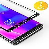 BANNIO Protector de Pantalla Samsung Galaxy Note 8,[2 Unidades] 3D Cobertura Completa Cristal Templado para Samsung Galaxy Note 8 con Kit de Instalación,9H Dureza,Sin Burbujas