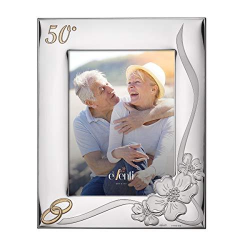 El Faro Marco Fotos Personalizado 13x18 cm Bodas de Oro 50 Aniversario Plata Bilaminada