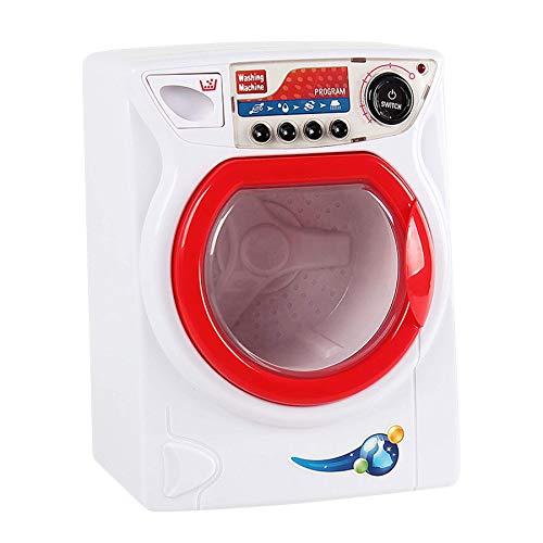 TikTakToo Kinderwaschmaschine mit Licht, Sound und drehender Trommel, Waschmaschine mit Funktion Haushaltssimulation Spielzeug für Kinder