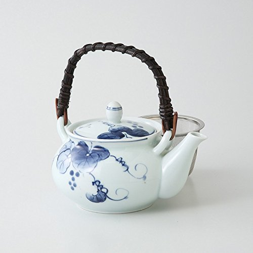 Tetera pequeña de cerámica Saikai Kyusu Heiseibudo (uva) 4go 70472 de Japón