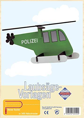Pebaro Laubsägevorlage aus Sperrholz Motiv Hubschrauber, Holz, DIN A4
