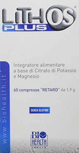Lithos Plus di Biohealth Italia - Integratore Alimentare a Base di Citrato di Potassio, Magnesio e Zinco - Barattolo da 60 compresse