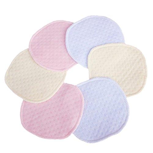 6pz Coppette Assorbilatte Pad di Cotone Lavabili Dischetti per Allattamento